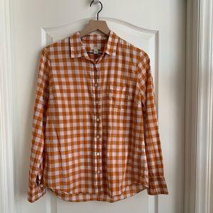J Crew button up golden organize shirt size 8